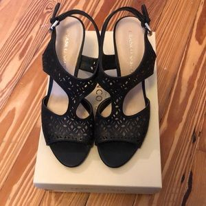 Franco Sarto black sandals